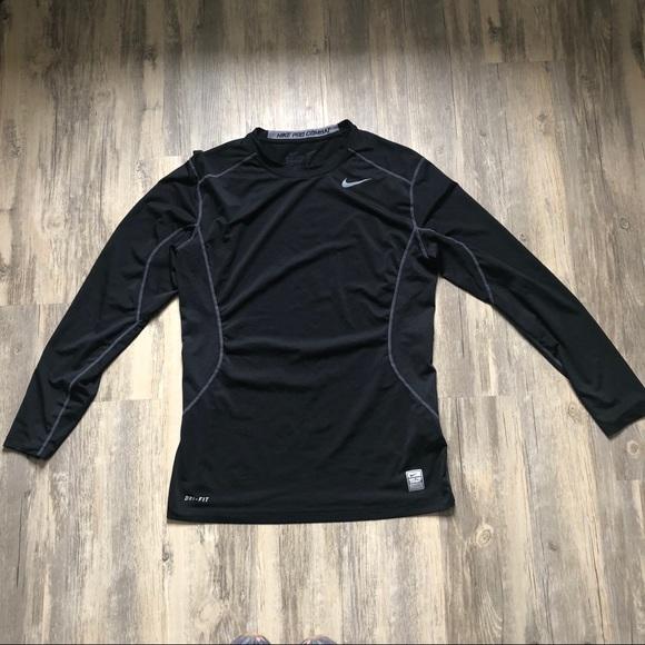 uk availability 5746a 0d488 Nike Pro Combat Black Dri-Fit Fitted Workout Shirt.  M 5ada61913afbbd6192fbcdd6